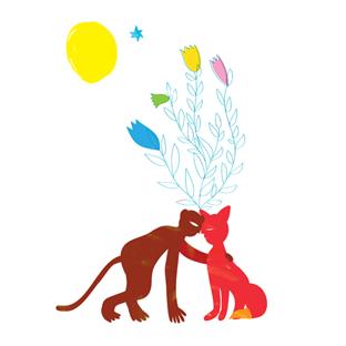 Fox & monkey